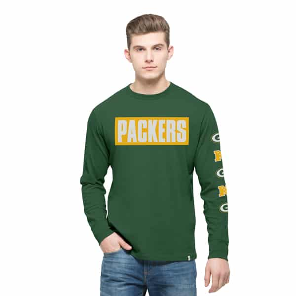 Green Bay Packers Crosstown Team Long Sleeve Mens Pine 47 Brand