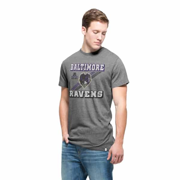Baltimore Ravens Tri-State T-Shirt Mens Vintage Grey 47 Brand