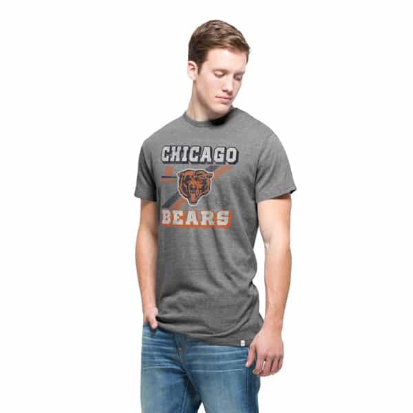 Chicago Bears Tri-State T-Shirt Mens Vintage Grey 47 Brand