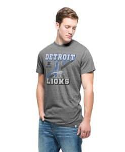 Detroit Lions Tri-State T-Shirt Mens Vintage Grey 47 Brand