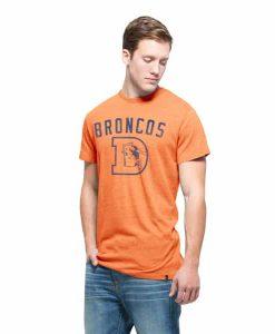 Denver Broncos Tri-State T-Shirt Mens Nectarine 47 Brand