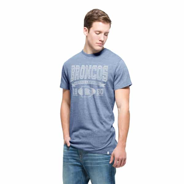 Denver Broncos Tri-State T-Shirt Mens Coastal Blue 47 Brand