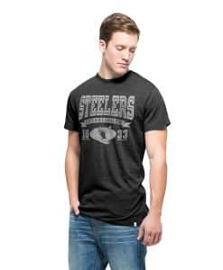 Pittsburgh Steelers Tri-State T-Shirt Mens Carbon Black 47 Brand