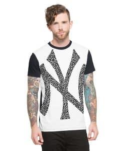 New York Yankees Drypoint T-Shirt Mens Slim Polar White 47 Brand