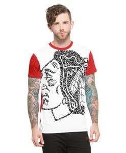 Chicago Blackhawks Drypoint T-Shirt Mens Slim Polar White 47 Brand