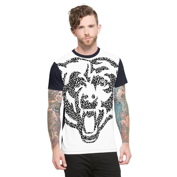 Chicago Bears Drypoint T-Shirt Mens Slim Polar White 47 Brand