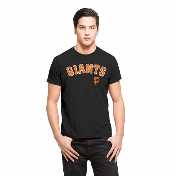 San Francisco Giants Frozen Rope T-Shirt Mens Slim Jet Black 47 Brand