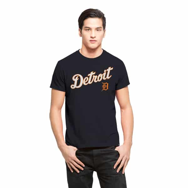 Detroit Tigers Frozen Rope T-Shirt Mens Slim Fall Navy 47 Brand