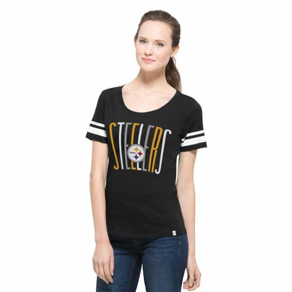 Pittsburgh Steelers Halfback Scoop Womens Jet Black 47 Brand