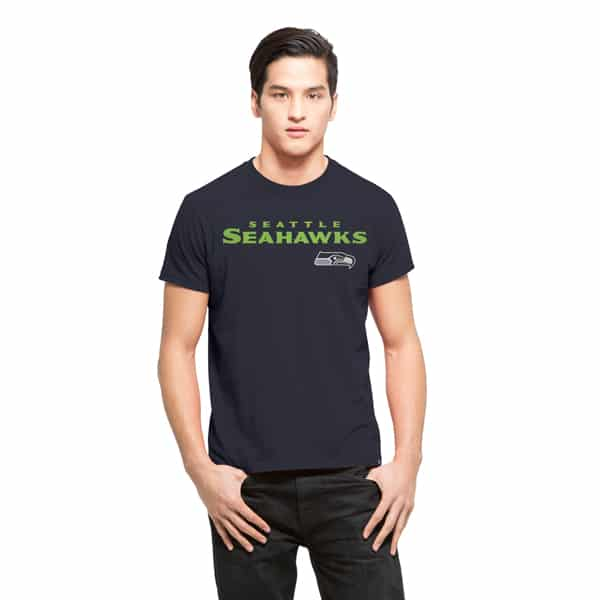 Seattle Seahawks Frozen Rope T-Shirt Mens Slim Midnight 47 Brand