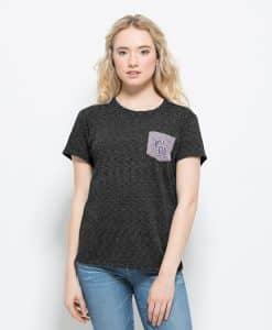 Colorado Rockies Splash Pocket T-Shirt Womens Carbon Black 47 Brand