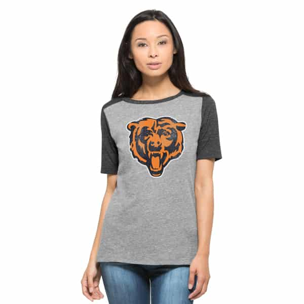 Chicago Bears Empire T-Shirt Womens Vintage Grey 47 Brand