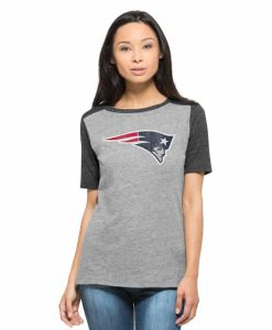 New England Patriots Empire T-Shirt Womens Vintage Grey 47 Brand