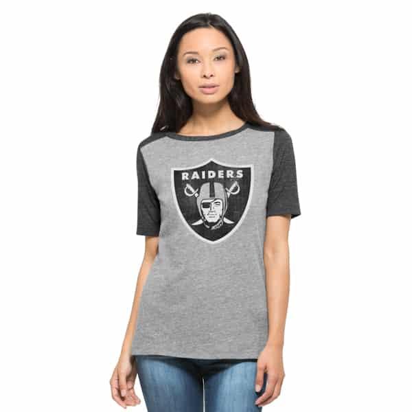 Oakland Raiders Empire T-Shirt Womens Vintage Grey 47 Brand