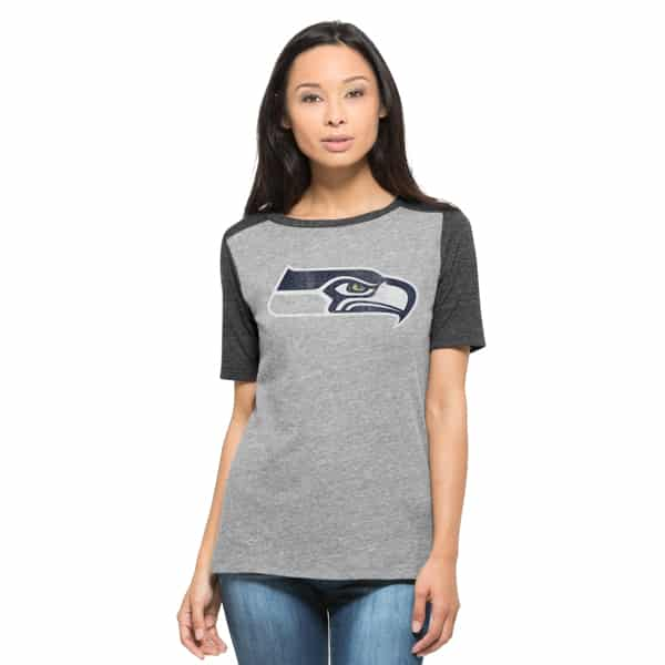 Seattle Seahawks Empire T-Shirt Womens Vintage Grey 47 Brand