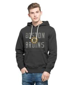 Boston Bruins Cross-Check Pullover Hoodie Mens Graphite 47 Brand