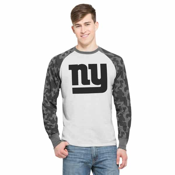 New York Giants Stealth Camo Raglan Mens Cinderblock 47 Brand