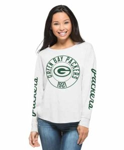 Green Bay Packers Cara T-Shirt Womens Cinderblock 47 Brand