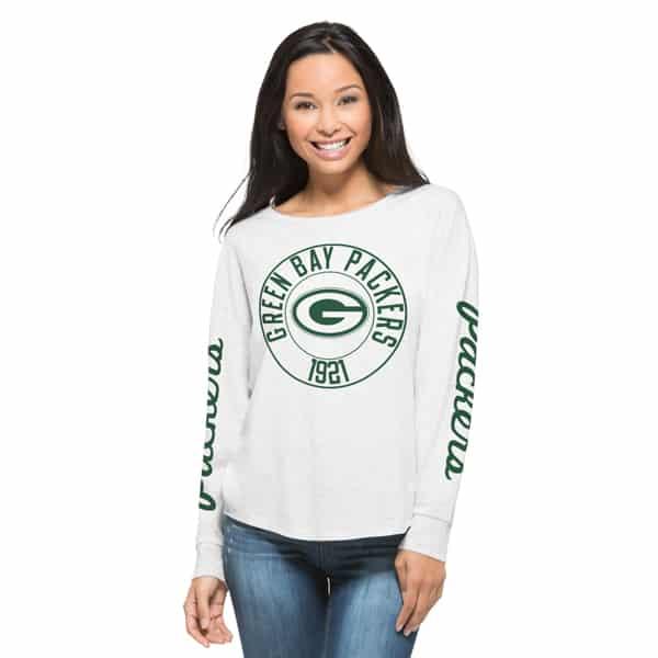 Green Bay Packers Cara T-Shirt Womens Cinderblock 47 Brand