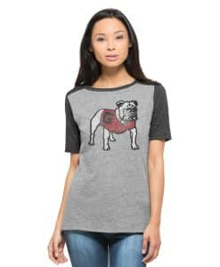 Georgia Bulldogs Empire T-Shirt Womens Vintage Grey 47 Brand