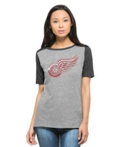 Detroit Red Wings Empire T-Shirt Womens Vintage Grey 47 Brand