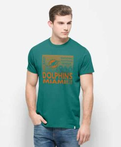 Miami Dolphins Crosstown Flanker T-Shirt Mens Neptune 47 Brand
