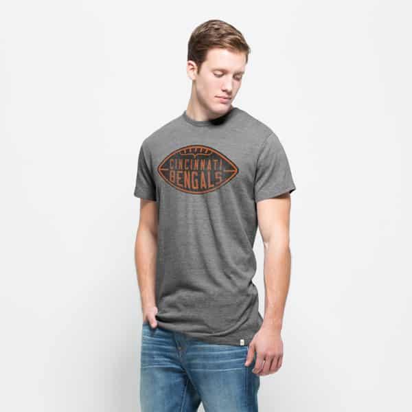 Cincinnati Bengals Tri-State T-Shirt Mens Vintage Grey 47 Brand