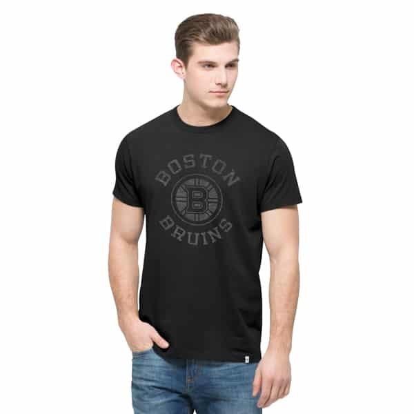 Boston Bruins Crosstown Flanker T-Shirt Mens Jet Black 47 Brand