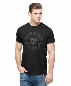 Pittsburgh Penguins Crosstown Flanker T-Shirt Mens Jet Black 47 Brand