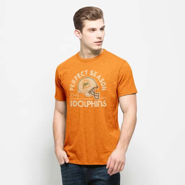 Miami Dolphins Scrum T-Shirt Mens Mango 47 Brand