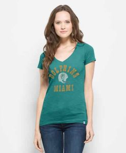 Miami Dolphins Mvp V-Neck Shirt Scrum Womens Neptune 47 Brand