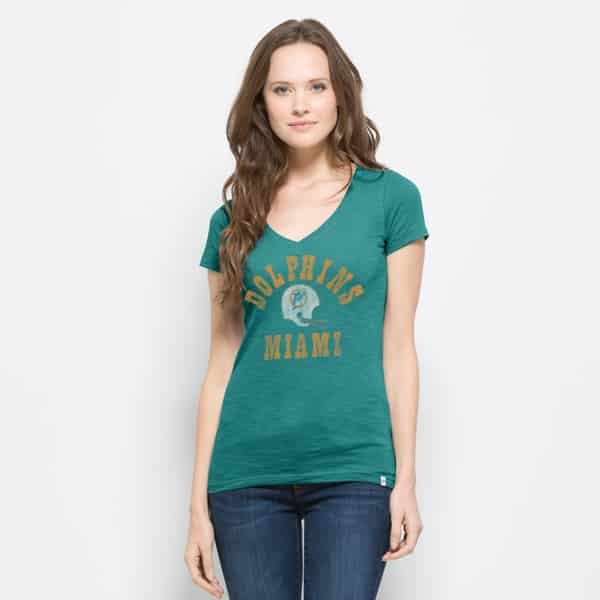 Miami Dolphins Mvp V-Neck Shirt Scrum Womens Neptune 47 Brand