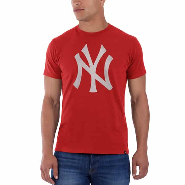 New York Yankees Frozen Rope T-Shirt Mens Slim Rebound Red 47 Brand