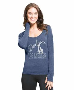 Los Angeles Dodgers Dash Long Sleeve T-Shirt Womens Shift Blue 47 Brand