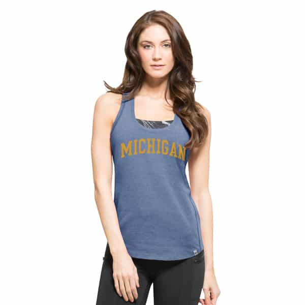 Michigan Wolverines High Point Tank Top Womens Shift Blue 47 Brand