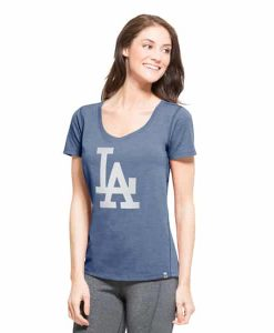 Los Angeles Dodgers High Point T-Shirt Womens Shift Blue 47 Brand