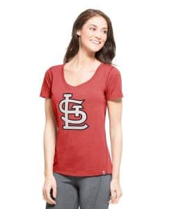 St. Louis Cardinals High Point T-Shirt Womens Shift Red 47 Brand