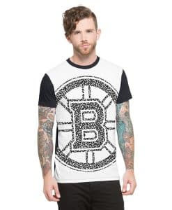 Boston Bruins Drypoint T-Shirt Mens Slim Polar White 47 Brand