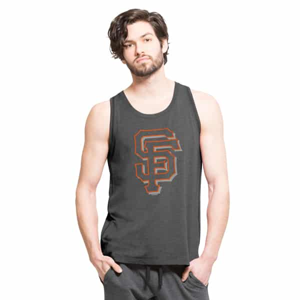 San Francisco Giants High Point Tank Top Mens Shift Black 47 Brand