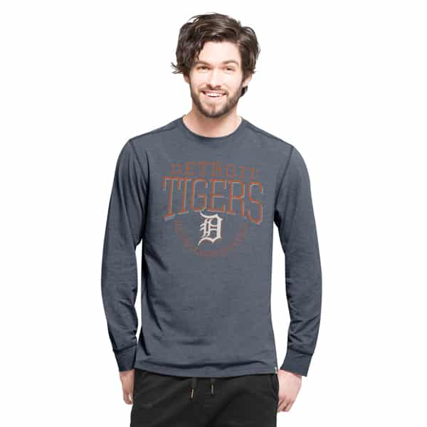 Detroit Tigers Cadence Long Sleeve T-Shirt Mens Shift Navy 47 Brand