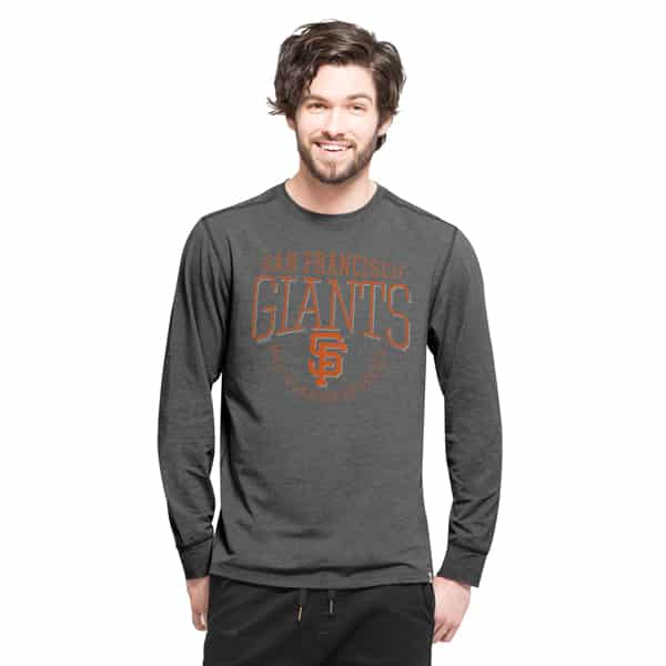 San Francisco Giants Cadence Long Sleeve T-Shirt Mens Shift Black 47 Brand