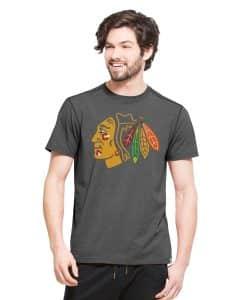 Chicago Blackhawks High Point T-Shirt Mens Shift Black 47 Brand