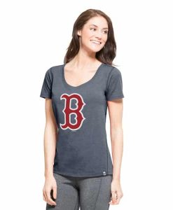 Boston Red Sox High Point T-Shirt Womens Shift Navy 47 Brand