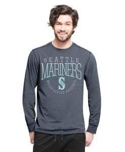 Seattle Mariners Cadence Long Sleeve T-Shirt Mens Shift Navy 47 Brand