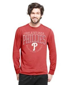 Philadelphia Phillies Cadence Long Sleeve T-Shirt Mens Shift Red 47 Brand