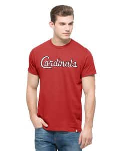 St. Louis Cardinals Crosstown Mvp T-Shirt Mens Rescue Red 47 Brand