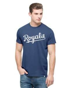 Kansas City Royals Crosstown Mvp T-Shirt Mens Bleacher Blue 47 Brand