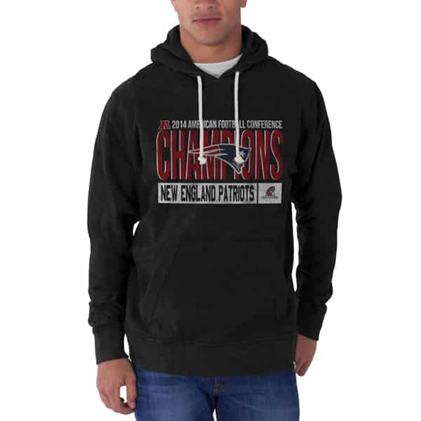 New England Patriots Slugger Hoodie Mens Jet Black 47 Brand