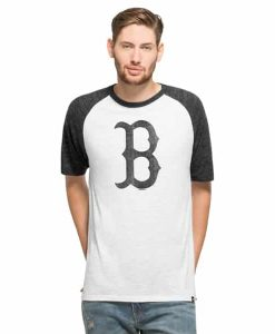 Boston Red Sox Tri-State Raglan Mens White Wash 47 Brand