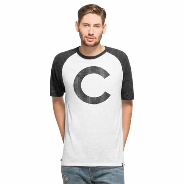 Chicago Cubs Tri-State Raglan Mens White Wash 47 Brand